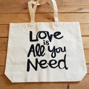 Love is all you need canvas tote